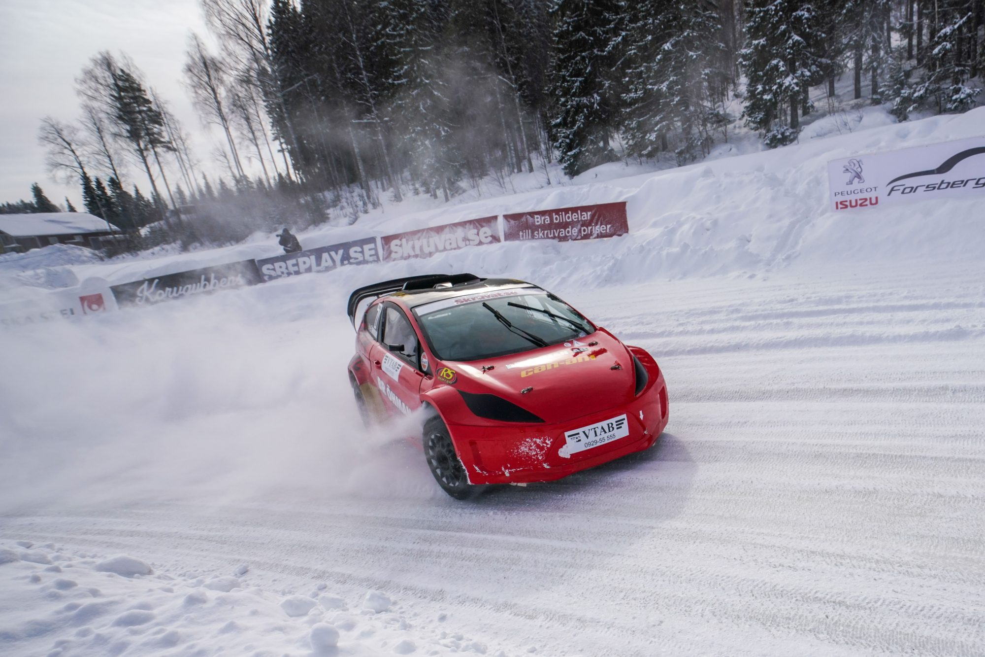 Emil Öhman, Tväråns If, tävlar i motorsport under dag 6 av SM-veckan den 25 mars 2017 i Skellefteå