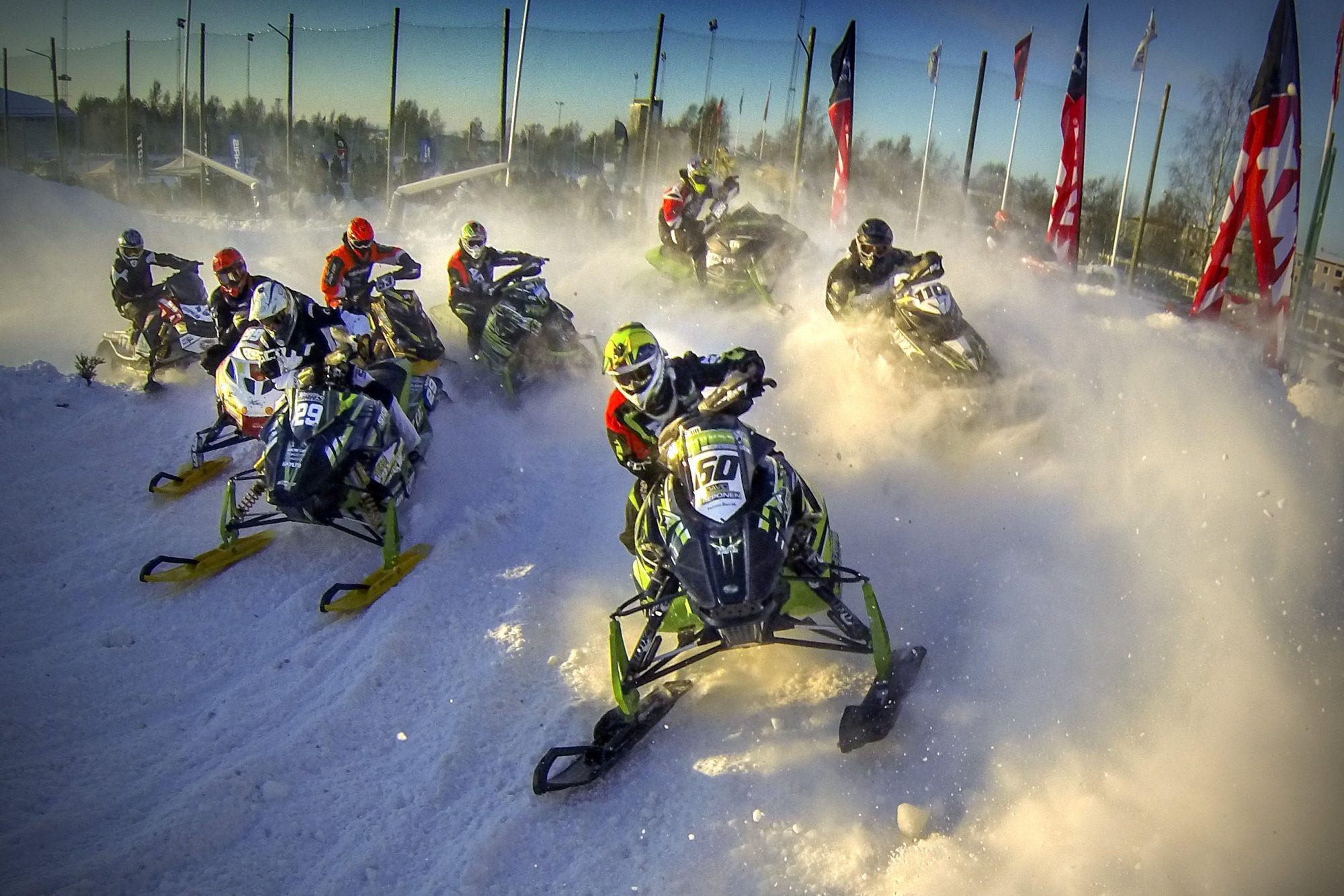 Stadioncross under SM-veckan den den 19 januari 2014 i Umeå.
