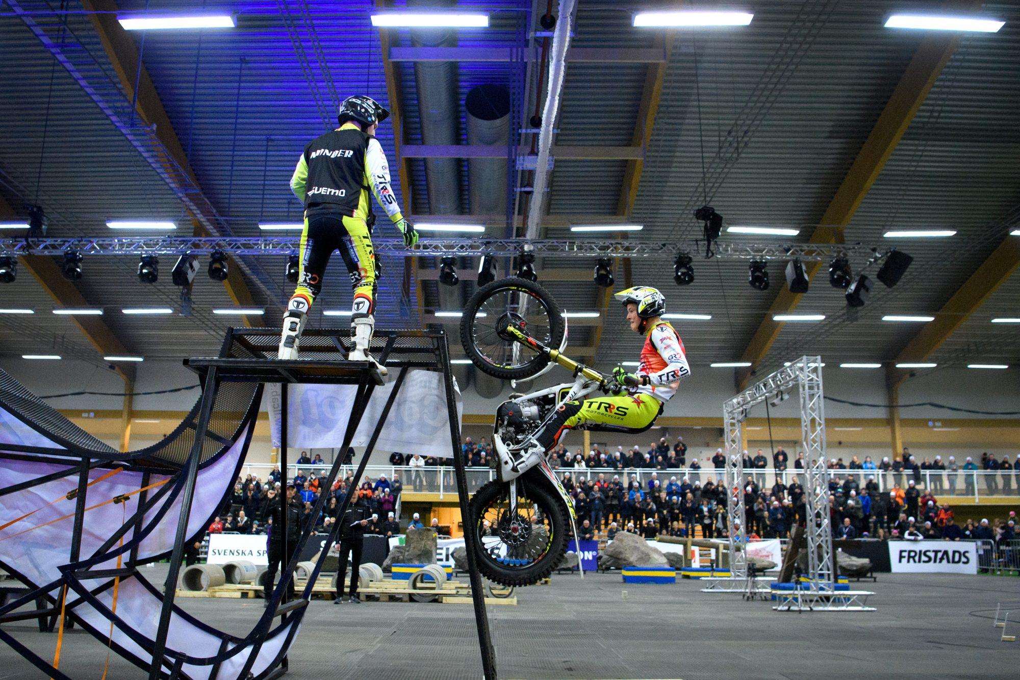 Sondre Haga, Riska Motorsykkelklubb, i finalen i x-trial.