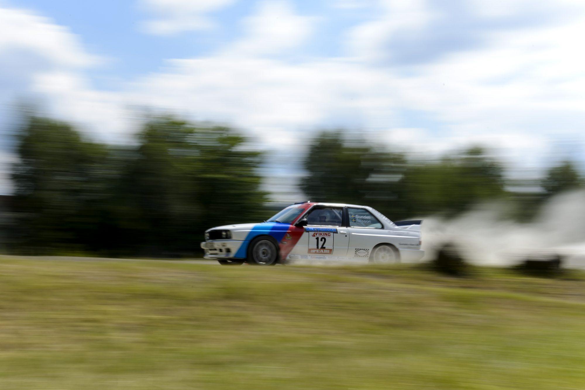 Oskar Sundell, Sandvikens MK, tävlar i rallysprint under dag sju av SM-veckan den 6 juli 2014 i Borås.