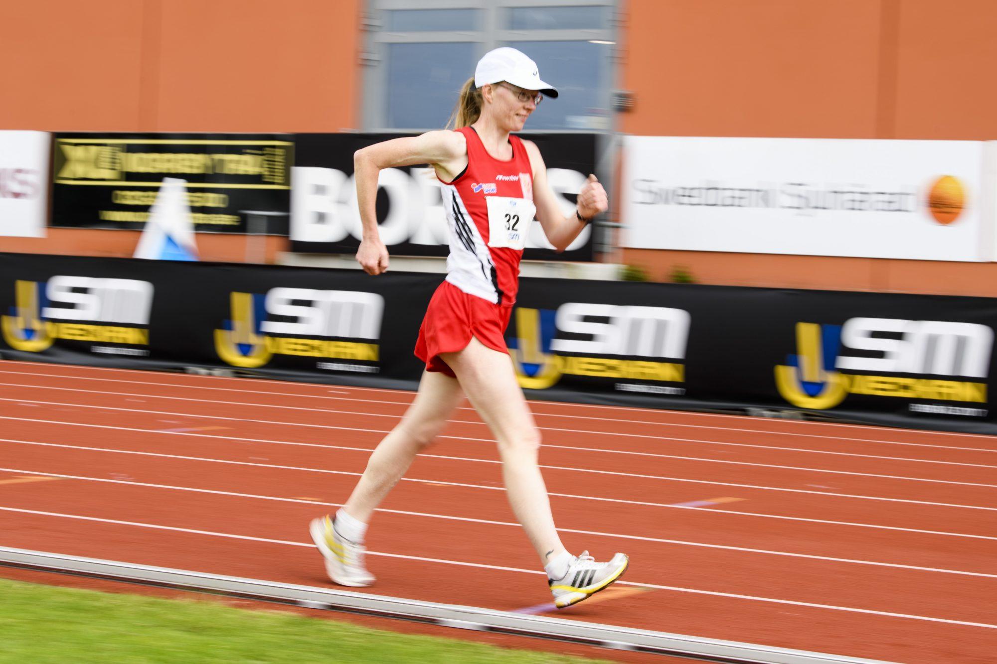 Monica Svensson Växjö AIS under gång tävlingen dag 8 av SM-veckan 2017 den 7 juli 2017 i Borås.