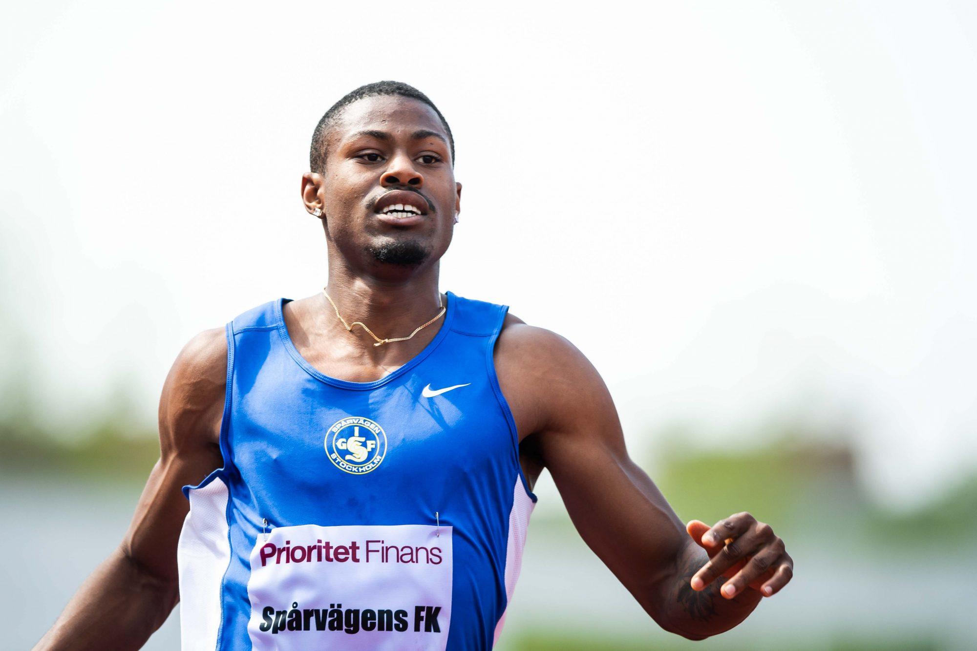 Odain Rose, Spårvägen tävlar i herrarnas 100m under Lag-SM i friidrott under dag 1 av SM-veckan den 26 juni 2019 i Malmö.