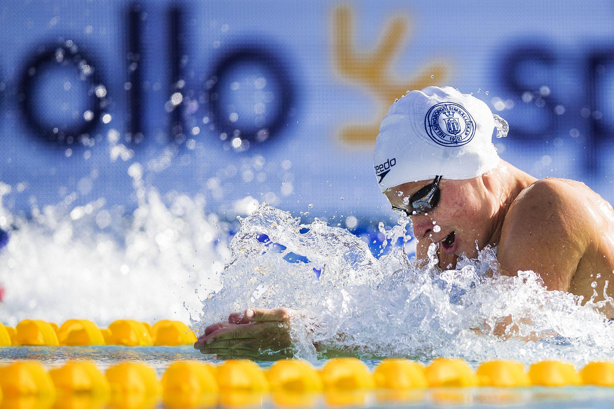 Sophie Hansson, Helsingborg, tävlar i 50 meter bröstsim under dag 4 av SM-veckan den 29 juni 2019 i Malmö.