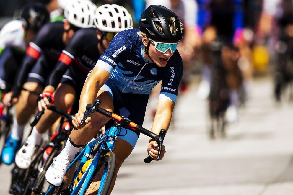 Emil Andersson, Giro Cycle Club, tävlar i kortdistans cykel under dag 7 av SM-veckan den 2 juli 2019 i Malmö.