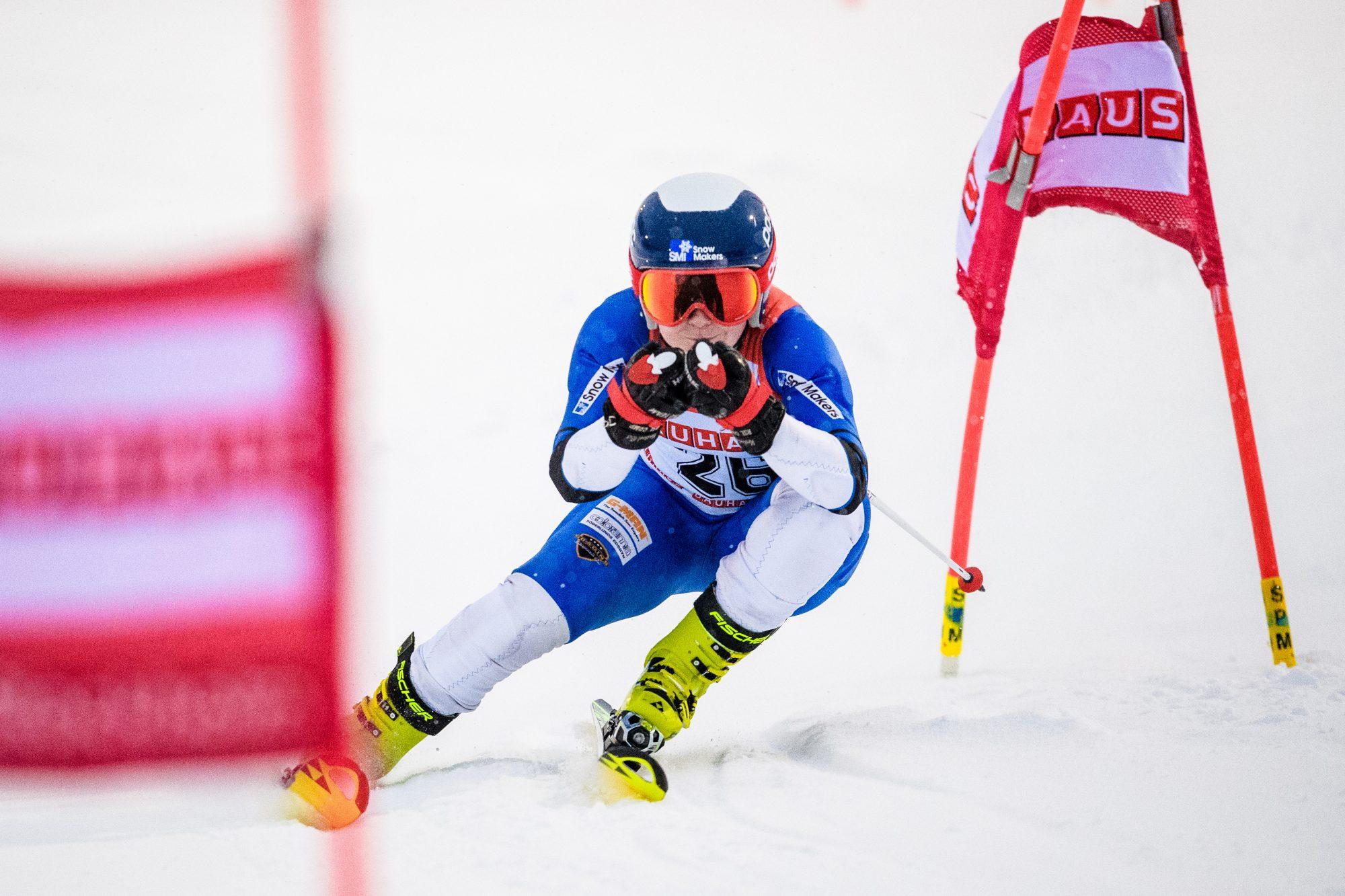 Louise Wedin, Edsbyns IF Alpina Fšrening, tŠvlar i parallellslalom under dag 5 av SM-veckan den 1 februari 2019 i Sundsvall.