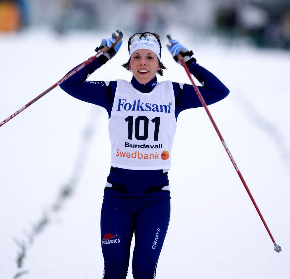 Charlotte Kalla vann jaktstarten 2009.