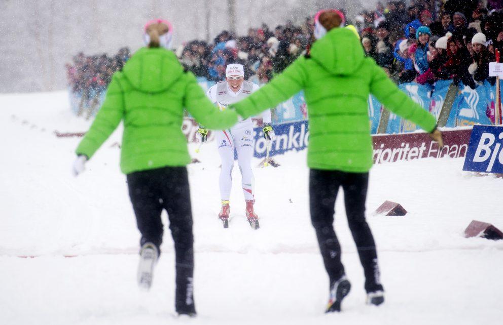Målgång stafett längdskidor