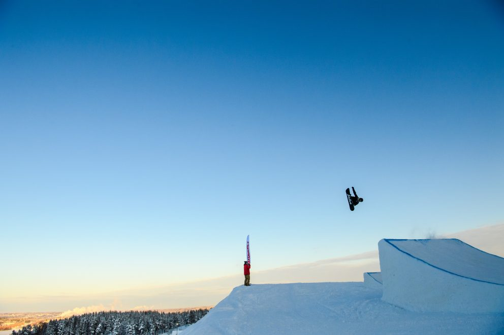 Freeskiing big air